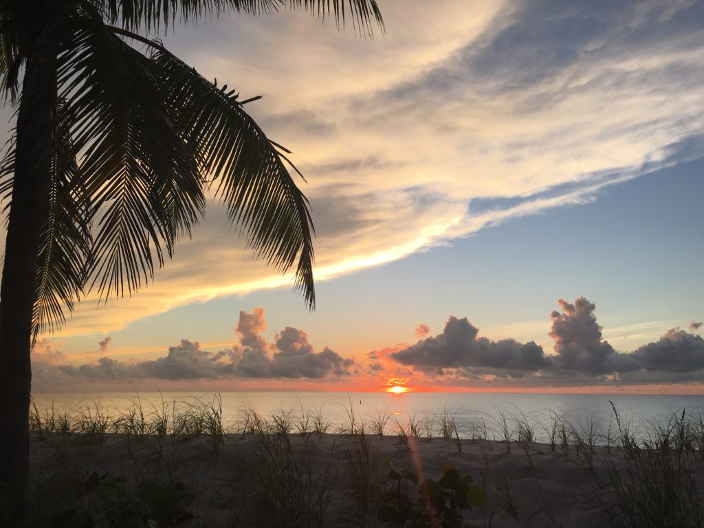 Sunrise on Ft. Lauderdale Beach, just a 5 minute walk from apartments