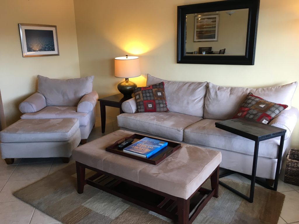 Unit 14 - Spacious Living Room area with oversized chair/ottoman and sofa