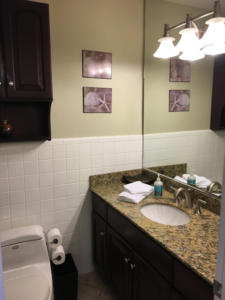 Unit 14 - Updated bathroom with granite countertops