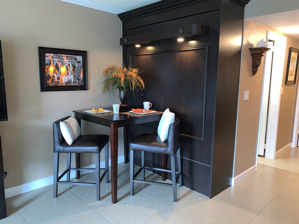 Unit 3 - Dining Table with pull down murphy bed